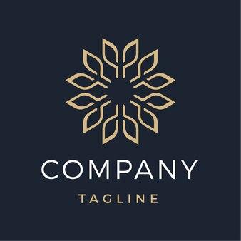 Logo moderne de fleur abstraite de luxe