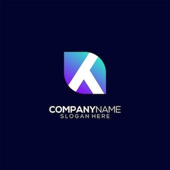 Logo moderne lettre k dégradé coloré