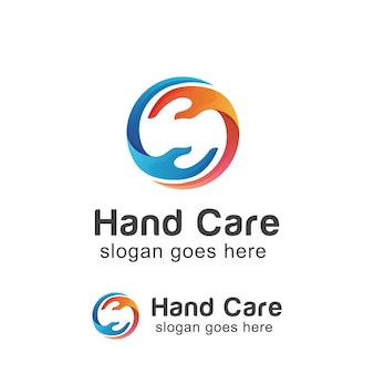 Logo moderne de soins des mains
