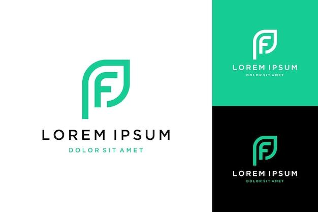 Logo ou monogramme de conception unique ou lettre initiale pf