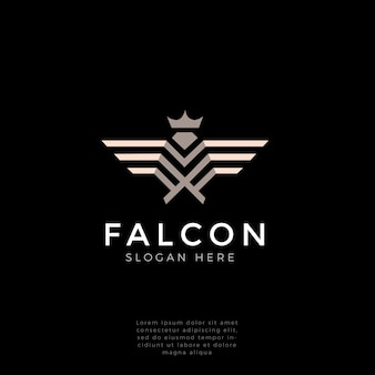 Logo monogramme fort faucon, faucon, aigle