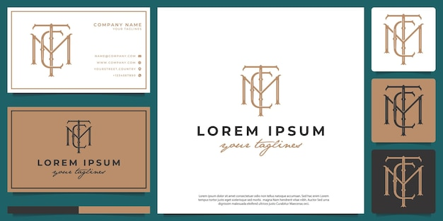 Logo monogramme hipster minimaliste