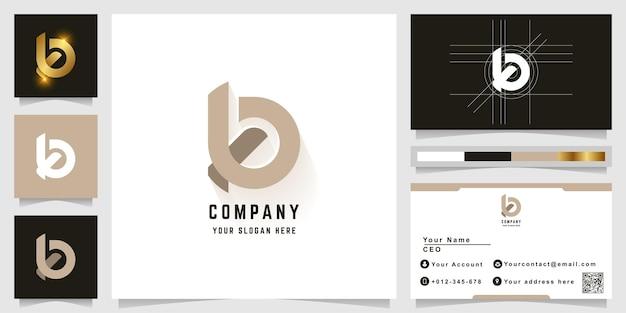 Logo monogramme lettre b ou ko avec conception de carte de visite