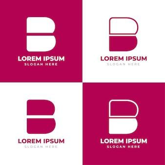 Logo de monogramme de lettre initiale b modèle de logo créatif alphabet lettre b