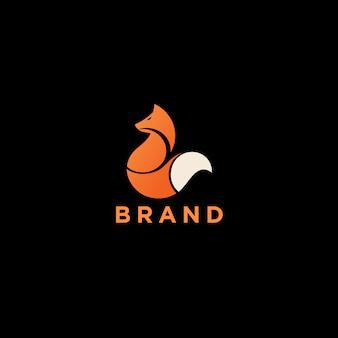 Logo monogramme renard orange
