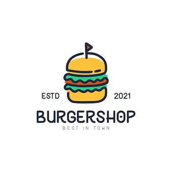 Logo monoline burgershop