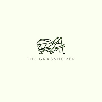 Le logo monoline grasshoper