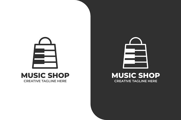 Logo monoline de magasin de musique
