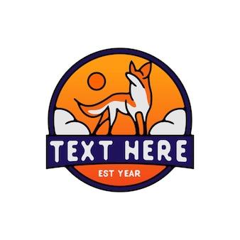 Logo de monoline de modèle de renard