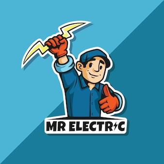 Logo de monsieur électrique