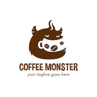 Logo de monstre de café