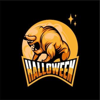 Logo de monstre d'halloween