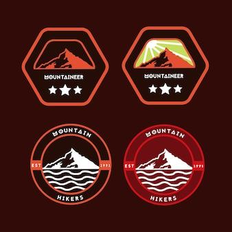 Logo de montagne activité de plein air
