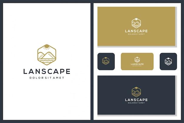Logo de montagne. agriculture, entreprise, création de logo.
