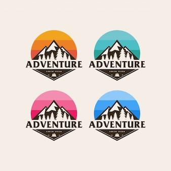 Logo de montagne d'aventure
