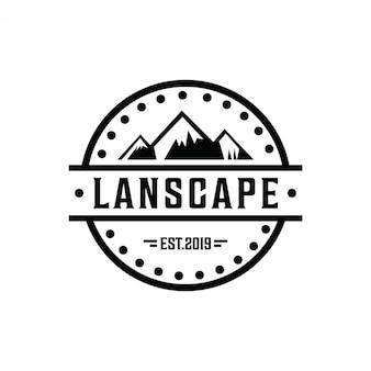 Logo de montagne minimaliste