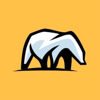 Logo de montagne d'ours polaire