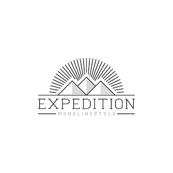 Logo de montagne en plein air