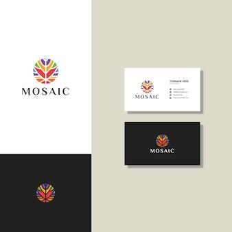 Logo mosaïque abstraite