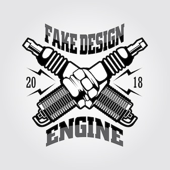 Logo de moteur d'allumage