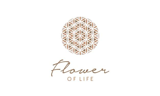 Logo de motif de fleur de vie