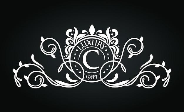 Logo avec motif d'ornement