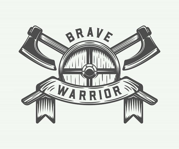 Logo de motivation vikings vintage