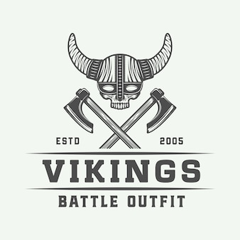 Logo de motivation des vikings