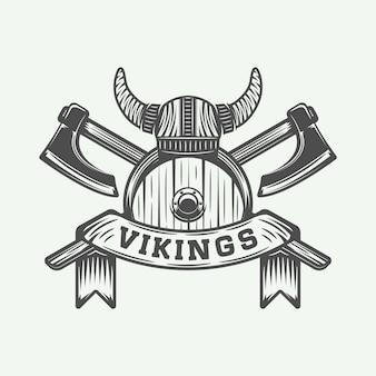Logo de motivation des vikings