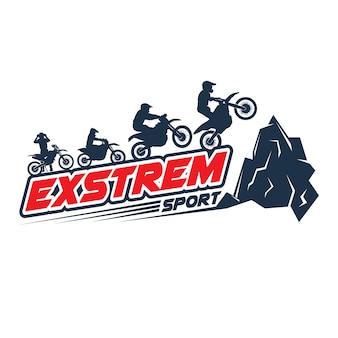 Logo De Moto Cross Sport Vecteur Premium