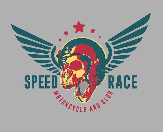 Logo de moto moderne de vecteur. club et garage.