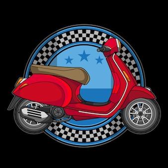 Logo de moto scooter