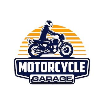 Logo de moto de vélo de tourisme d'aventure