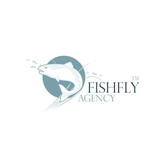 Logo de mouche de poisson