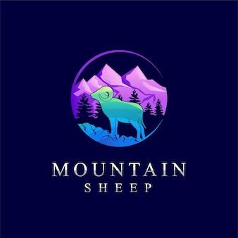 Logo de mouflon de montagne logo de mouflon d'amérique