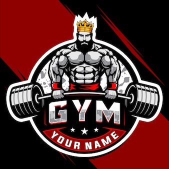 Logo de musculation et de gym king