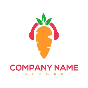 Logo de musique de carotte