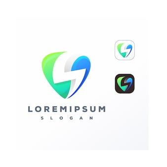 Logo de musique clip thunder coloré