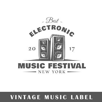 Logo de musique isolé sur blanc
