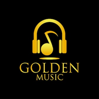 Logo de musique d'or