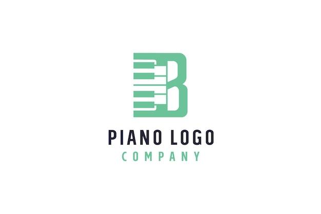 Logo de musique pour piano concept b