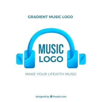 Logo de musique avec style dégradé