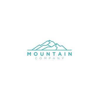 Logo nature montagne en plein air, forêt de pins aventure faune