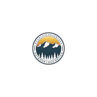 Logo nature montagne en plein air