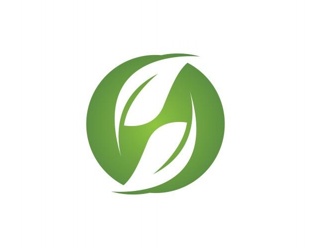 Logo nature vert feuille et symbole vecteur modèle
