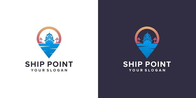 Logo de navire de point
