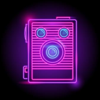 Logo néon caméra