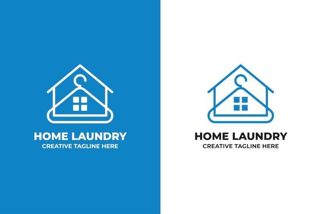 Logo de nettoyage de lavage de blanchisserie à la maison