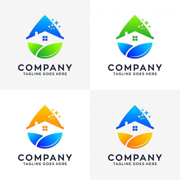 Logo de nettoyage de maison