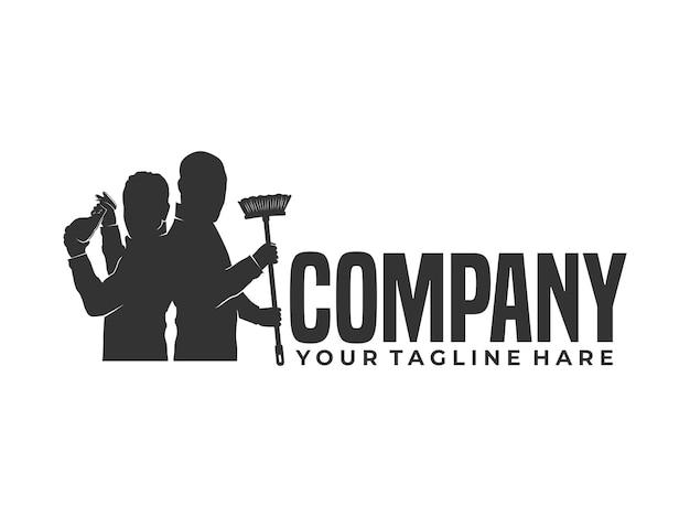 Logo de nettoyeur de maison